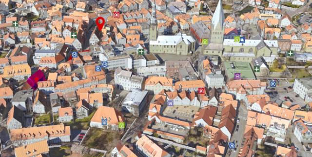 Ein Luftbild der Soester Altstadt.