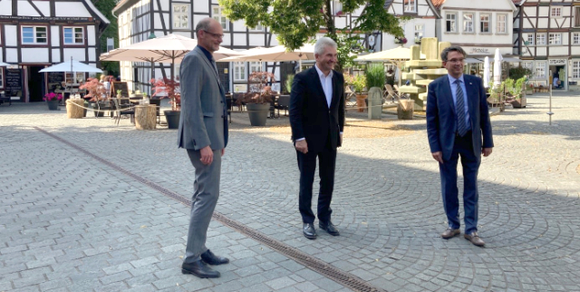 Minister Pinkwart in Soest